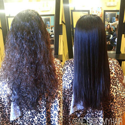 Brazilian Blowout before + after! Getting rid of that frizz before the spring showers!