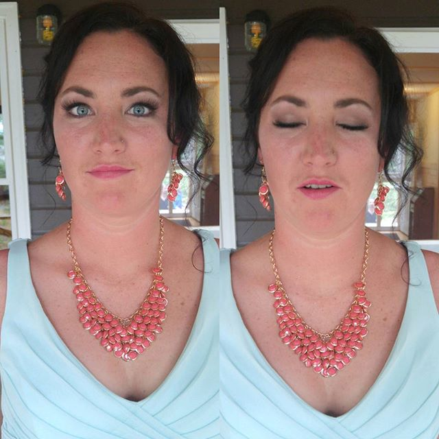 More May 28th wedding bridesmaids makeup! 💓💋💍
