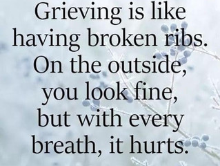 Grieving is like...