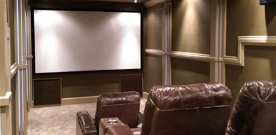 Starlight Fiber optic Ceiling in this custom home theater located in Atlanta GA in Fulton County near Lagrange GA -  Lighting Control, Home Automation, High Performance Audio
