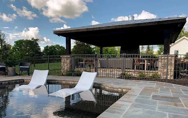 Outdoor Theater space near Atlanta GA featuring 7.1 Surround sound and 4K video at the pool.  Home features Lutron Lighting control as well as a home automation system integrated with CCTV as well as the in home security as well as zoned audio and video distribution