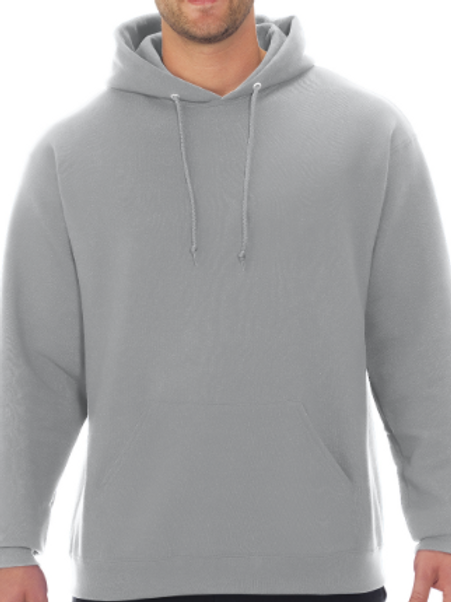 "Grey Hoodie W/Full Front ""Rogue Volleyball"" logo"