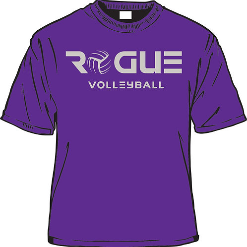 Rogue Purple T (grey print)