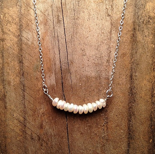 Fresh Water Pearl Bar Necklace