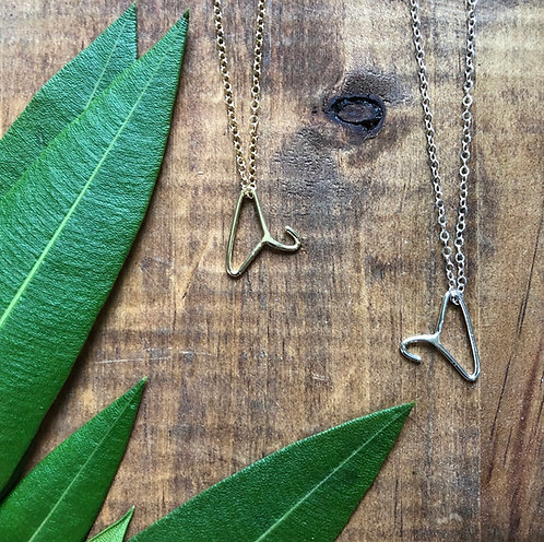 Petite Coat Hanger Necklace