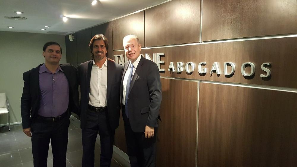 Sidnei Danioti, Diretor Administrativo-Financeiro Grupo Transmoreno, Dr. Federido Tallone e Dr. Cristiano J. Baratto