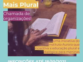 Mais Plural: chamada para ampliar bibliotecas de espaços que atendem meninas