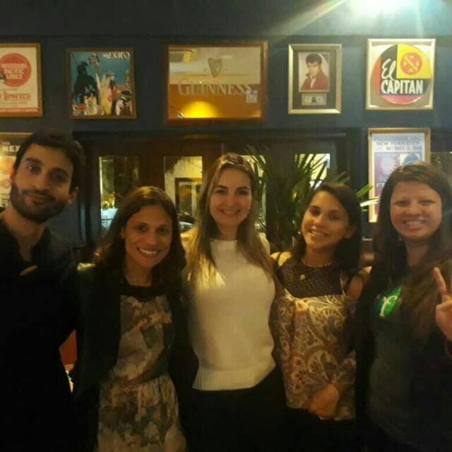 Fellows do YLAI em Curitiba. Da esquerda para direita: Gabriel, Danielle, Ester, Stephanie e Paloma.