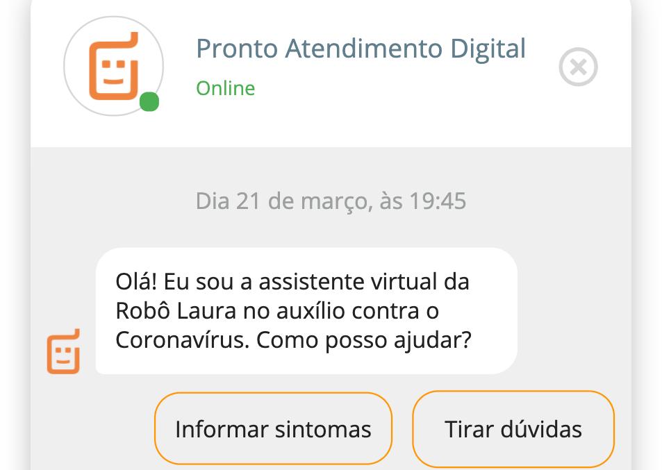 startup Laura pronto-atendimento Covid-19