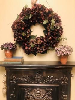 Ruby Hydrangea Winter Wreath £120