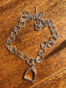 Stirrup silver neckalce