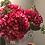 Thumbnail: RaspberryRed silk Hydrangeas in Silver Grey Urn