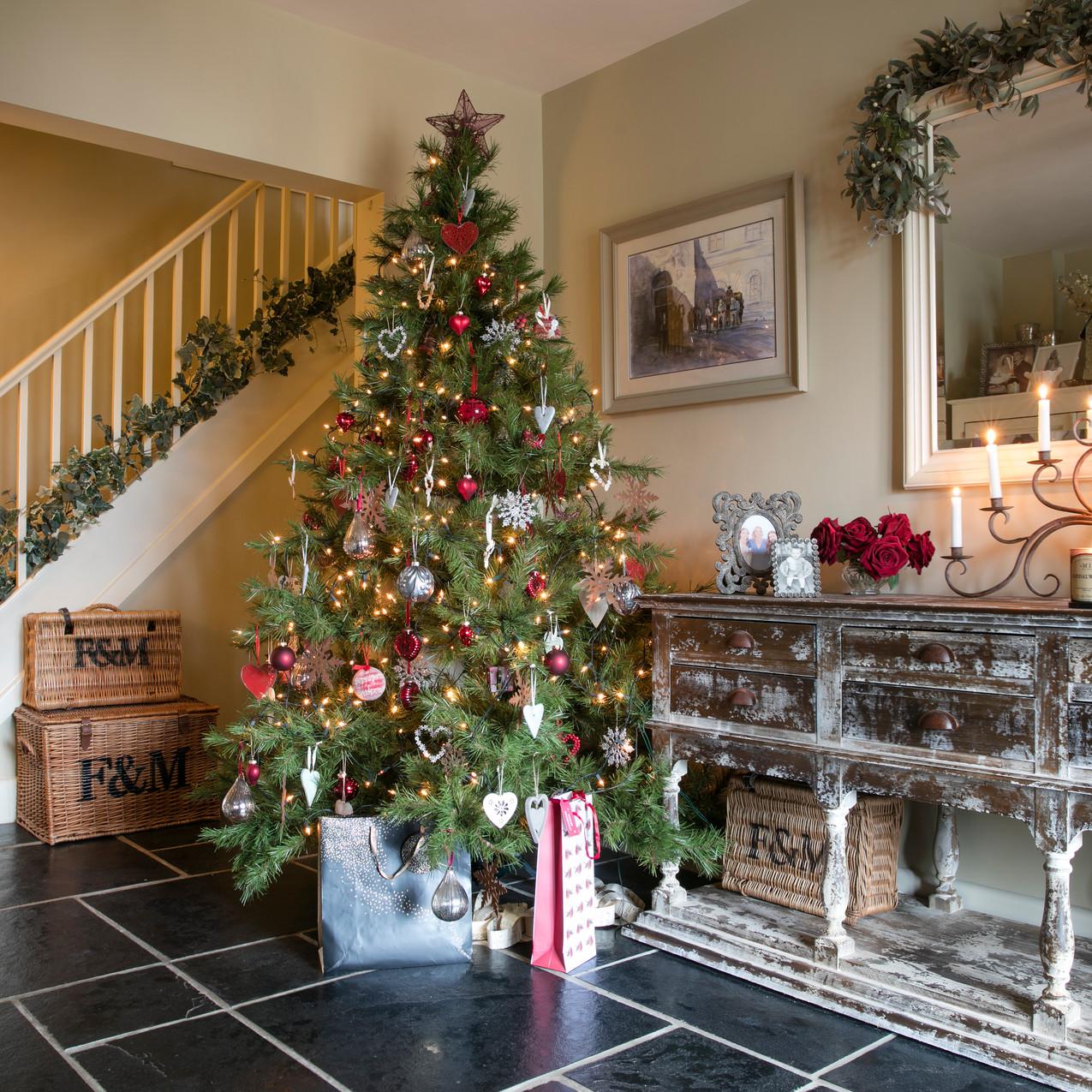 Hall at christmas interior design