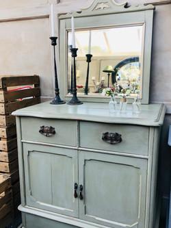 French Grey Vintage Cupboard