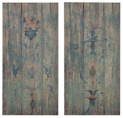 Blue Wood Art Wall Panels