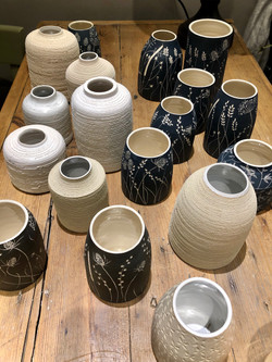 Etched pottery