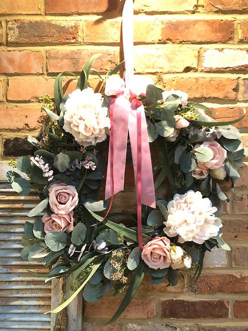 Sasha Pink Door Wreath