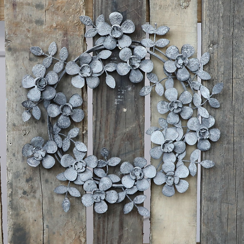 Zinc Flower Wreath