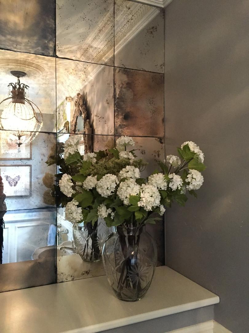 cloakroom mirror wall