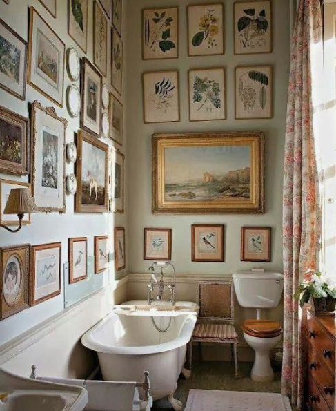 Art collection in the bathroom