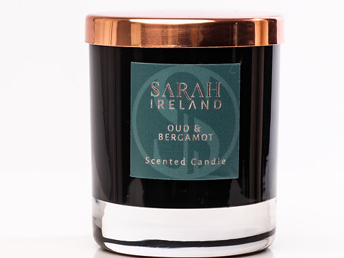 Oud & Bergamot Scented Candle