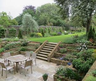 sunken garde, garden design