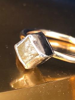 rough diamond ring