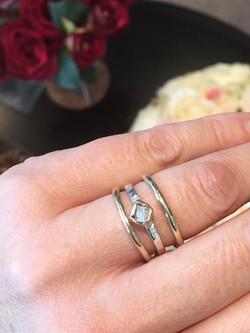Gem Freeman rough diamond ring