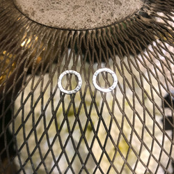 Small silver stud hoops