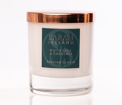 White Sage and Gardenia scented candle