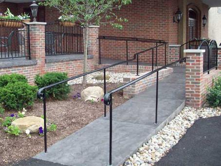 Ramp and railings
