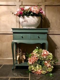 Pink & Green spring Wreath