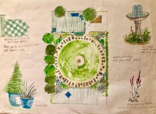 Water Colour Of Your Garden Design