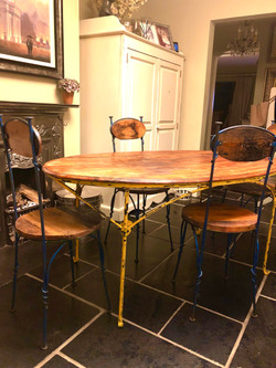 Wood & Metal table set