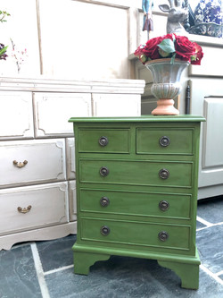 Small green chest of drawers