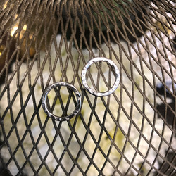 Medium Silver Stud hoops