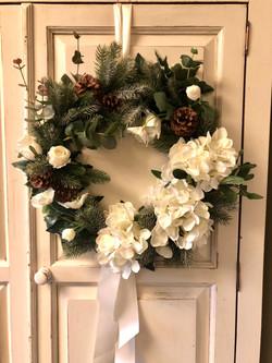 Silk Christmas wreath