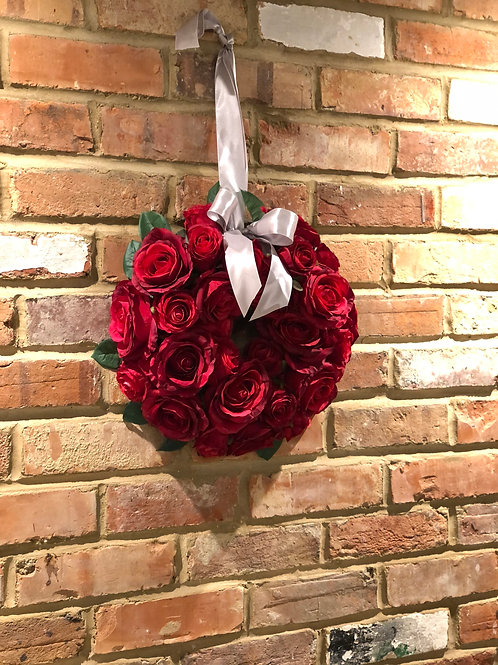 Pure Red Rose Wreath