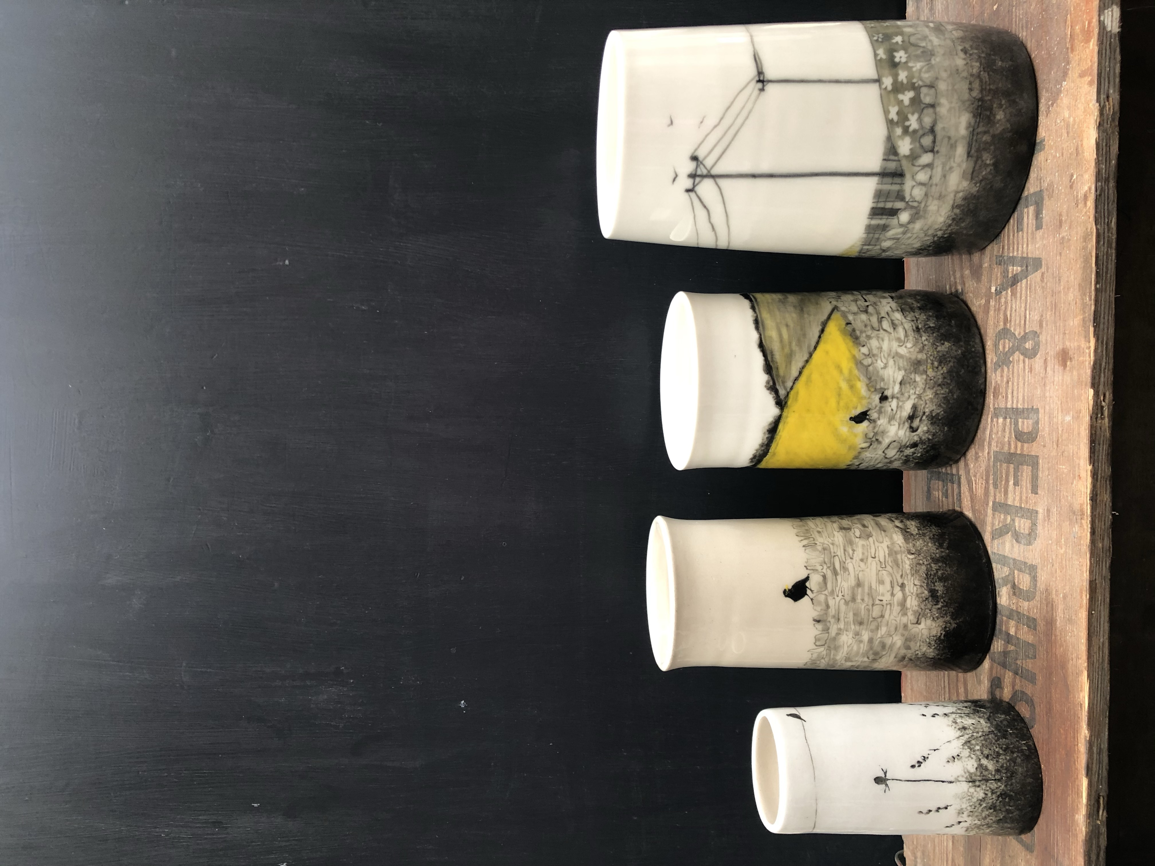 Glazed vases