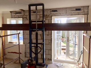 Getting ready for bi-fold doors