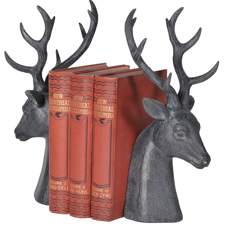 Stag bookends