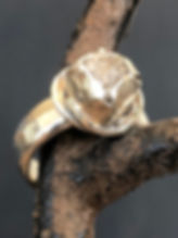 Raw Diamond set in Silver