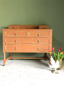 orange chest of drawers