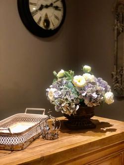 Lilac Hydrangeas & Roses