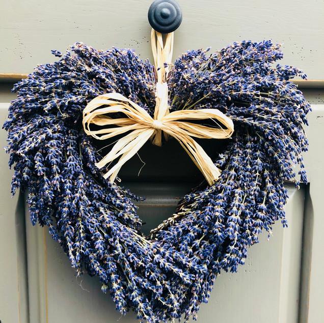 Large Lavender heart