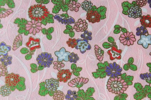 Hand-Dyed Yuzen Washi Paper - 029 Pink