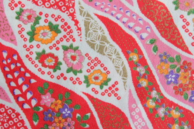 Hand-Dyed Yuzen Washi Paper - 031 Red