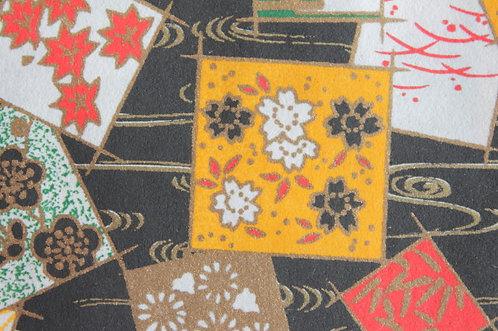 Hand-Dyed Yuzen Washi Paper - 020 Black