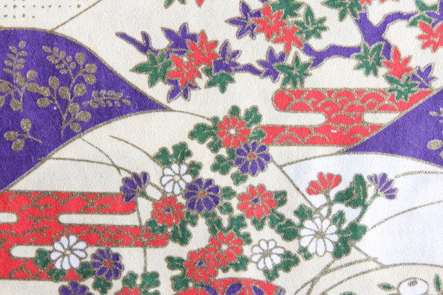 Hand-Dyed Yuzen Washi Paper - 022 Cream