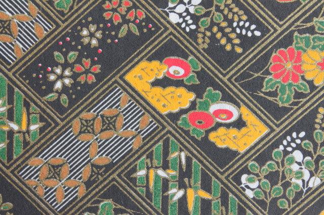 Hand-Dyed Yuzen Washi Paper - 025 Black
